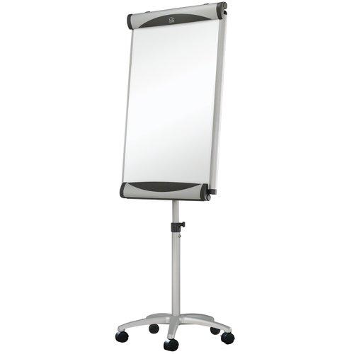 "Quartet® Euro™ Premium Mobile Magnetic Easel, Whiteboard/Flipchart, 27"" x 41"", Silver Frame"