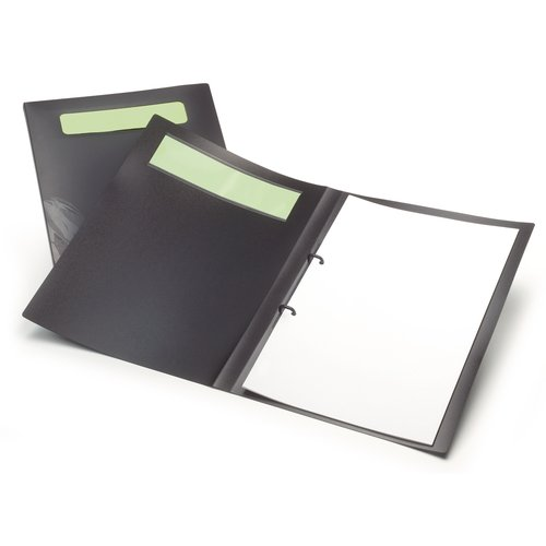 2 Ring Binder Ecodesk A4 Black