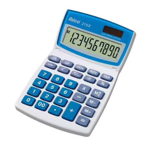 Ibico 210X Desktop Calculator White/Blue