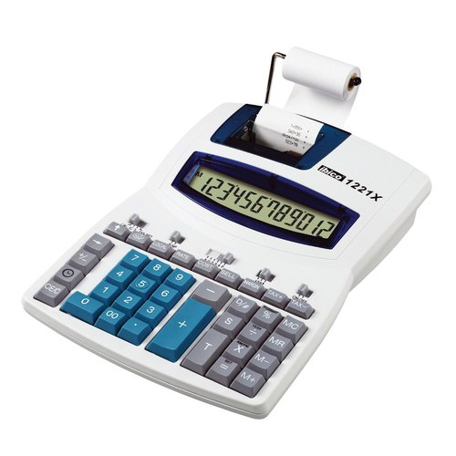 Ibico 1221X Semi-Professional Print Calculator White/Blue