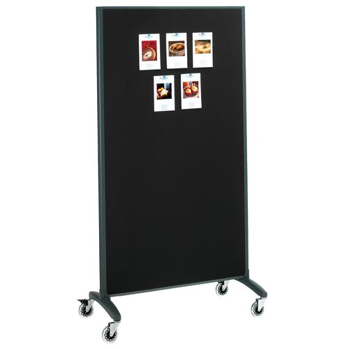 Quartet Motion™ Room Divider, 3' x 6', DuraMax® Porcelain Whiteboard Surface