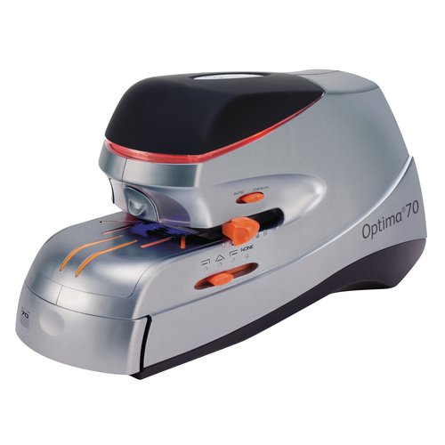 Optima 70 Heavy Duty Electric Stapler Silver/Black