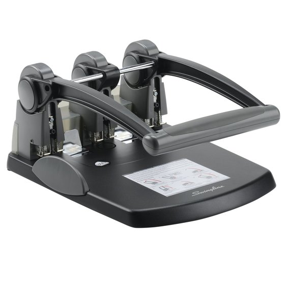 Swingline® Extra High Capacity 3-Hole Punch, Fixed Centers, 300 Sheets