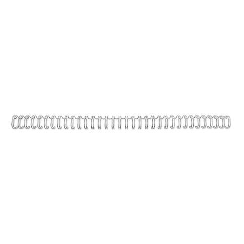 Spirali metalliche WireBind 2:1, n. 14, A4, argento (200)