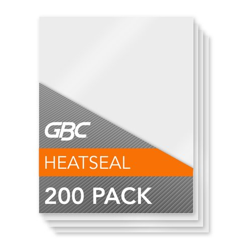 GBC® HeatSeal® CrystalClear™ Economy Thermal Laminating Pouches, Letter Size, 3 Mil, 200 Pack