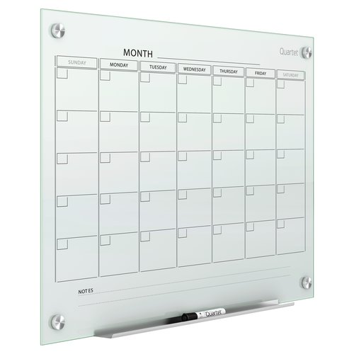 Quartet® Infinity™ Magnetic Glass Calendar Boards
