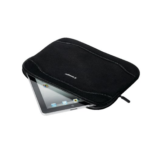 Black Faux Suede Tablet PC Sleeve