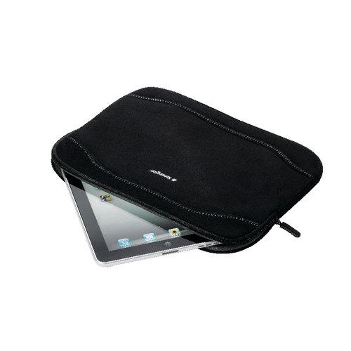 """Tablet-PC-Tasche aus Faux-Wildleder, schwarz – 11,6""""/29,46cm"""