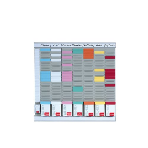 T-Card Planning Kit - Office Planner 8 columns 24 slots