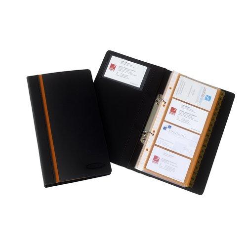 Optima Business Card Book Black