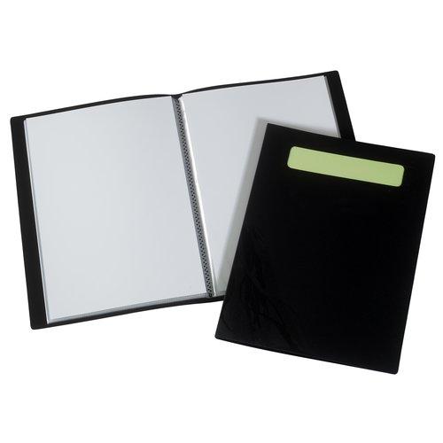 Protège documents Ecodesk A4 20 pochettes coloris noir