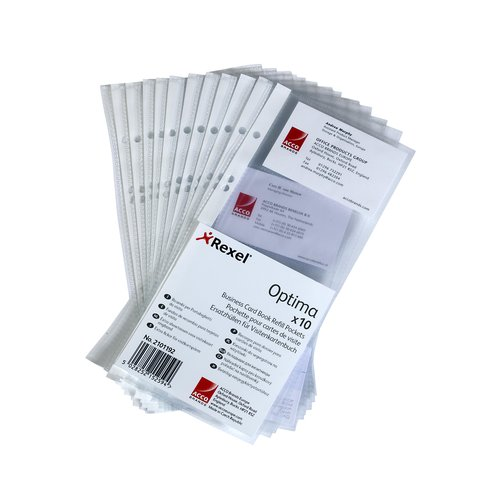 Optima Business Card Book Refill Pockets (10)