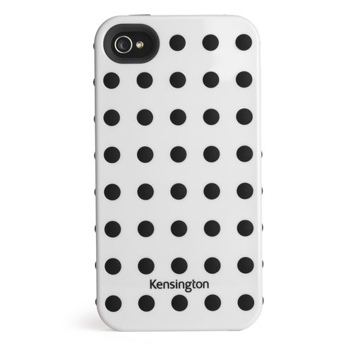 Combination Case for iPhone® 4 & 4S White w/Black Dots