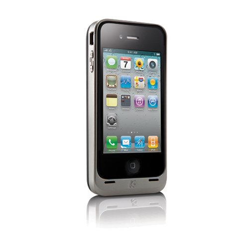 PowerGuard™ Battery Case with Card Stand (Silver)