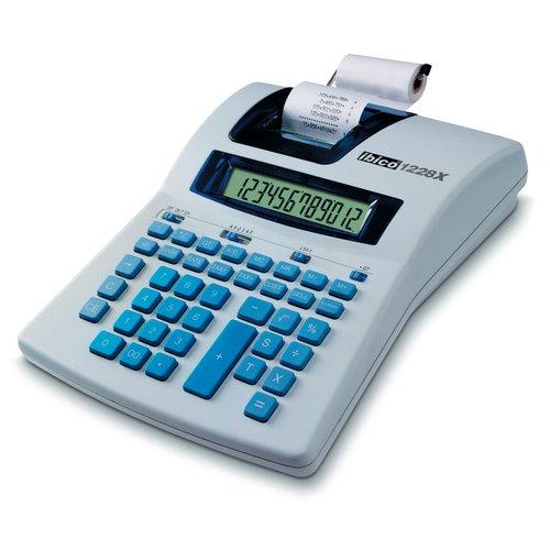 Ibico 1228X Semi-Professional Print Calculator White/Blue