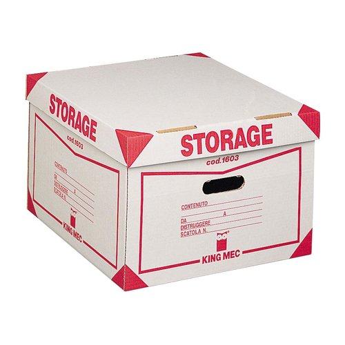Storage Contenitore Con Coperchio Per 4 Scatole Archivio