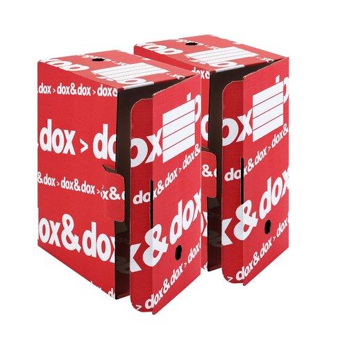 Dox & Dox Scatola Archivio Bianco/Rosso