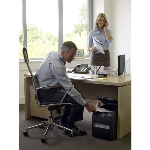 Swingline® Stack-and-Shred™ 80X Hands Free Shredder, Cross-Cut, 80 Sheets, 1 User