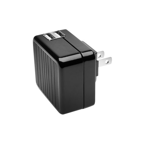 AbsolutePower™ Dual USB Wall Charger with USB Adapters