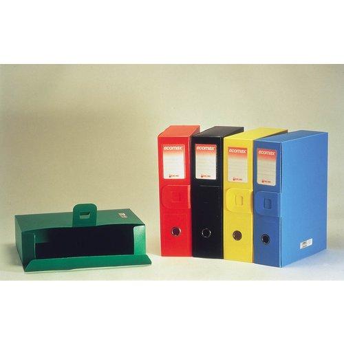Ecomax Scatola Archivio Dorso 9,5 cm - Colori Assortiti