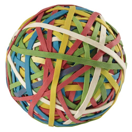 ACCO® Rubber Band Ball, 275 Bands Per Ball, Assorted Colors, 1/Box