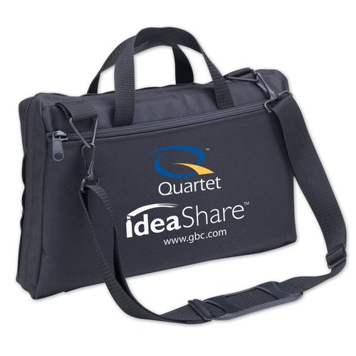 Quartet® Portable ideaShare® Carrying Case, Custom Compartments, Zipper, Black