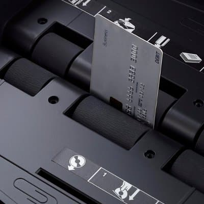 Securely Destroys Credit Cards and CDs