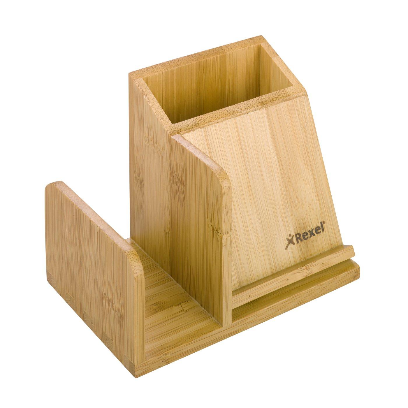 Bamboo desk accessories bamboo expandable pencil cup in - Accesorios para escritorio ...