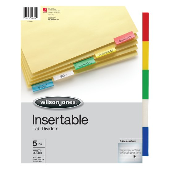 Wilson Jones® Insertable Tab Dividers
