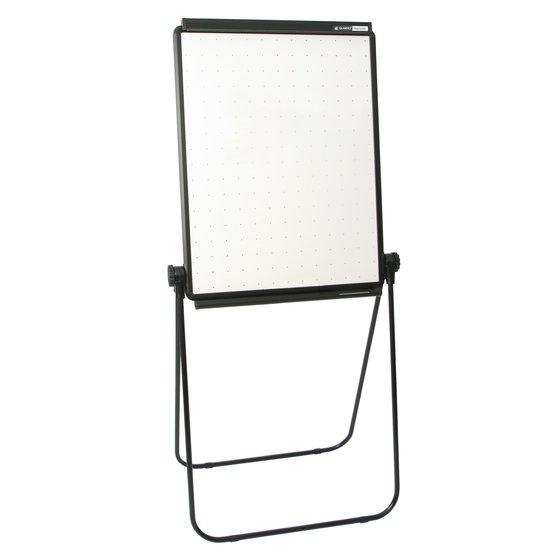 "Unimate Total Erase Easel, Whiteboard, 26"" x 34"", Black Frame"