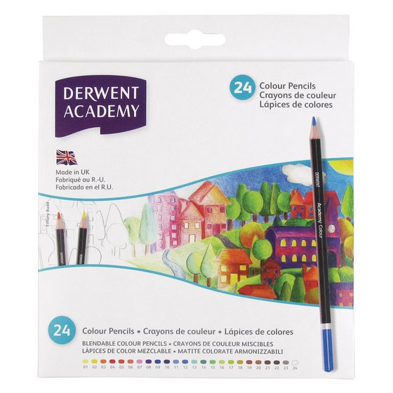 Derwent Academy Colouring Carton of 24