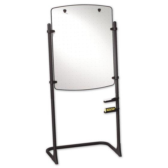 "Silhouette Total Erase Easel, Whiteboard/Flipchart, 31"" x 41"", Black Frame"