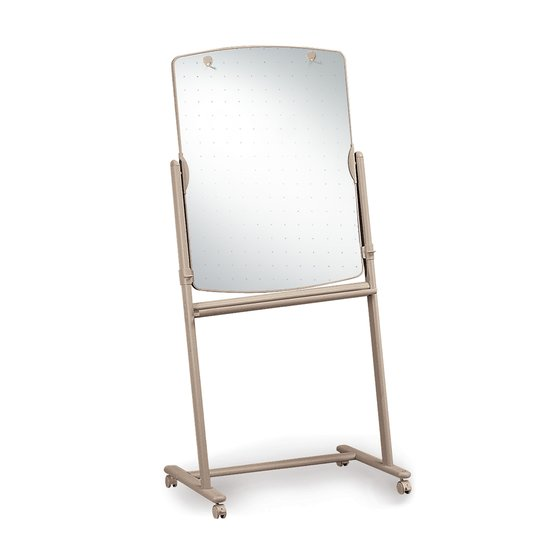 "Reversible Total Erase Mobile Easel, Whiteboard, 31"" x 41"", Neutral Frame"