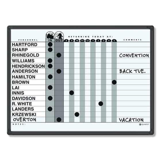 "Quartet® Classic Gray In/Out System, 24"" x 18"", DuraMax® Porcelain, Black Aluminum Frame"