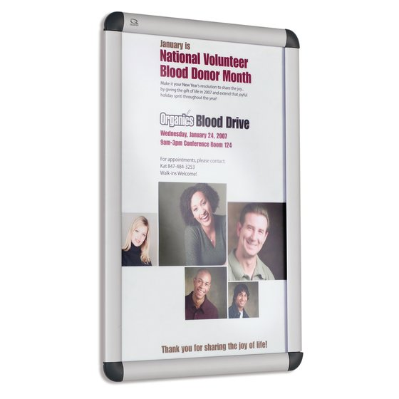 Quartet® Improv™ Clip Frame Signs, Table-top or Wall Mount