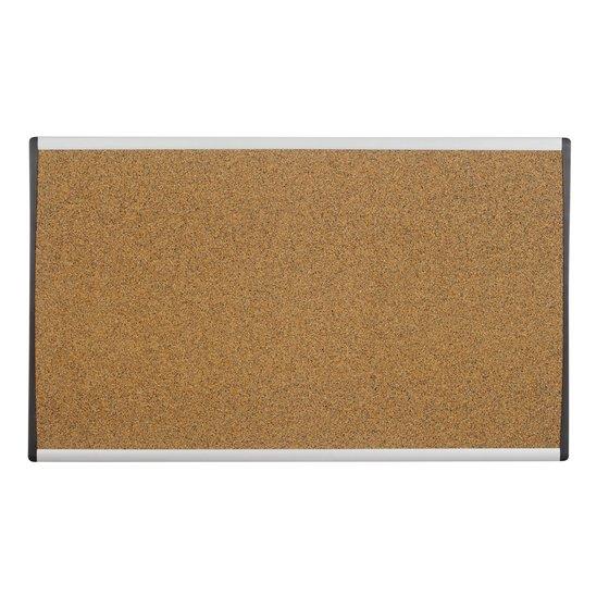 "Arc Cubicle Bulletin Board, 24"" x 14"", Colored Cork, Aluminum Frame"
