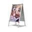 Quartet® Improv™ A-Frame Sign, Total Erase® Whiteboard Surface, 2' x 3', Silver Aluminum