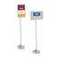 """Quartet® Designer Sign Stand, 59"""", Freestanding, 11"""" x 17"""" Frame"""