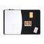 """Quartet® Designer™ Tack & Write® Cubicle Combination Board, 35"""" x 23 1/2"""", Black Frame"""