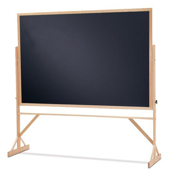 Quartet® Reversible Easel - Black Chalkboard, 4' x 6', Hardwood Frame