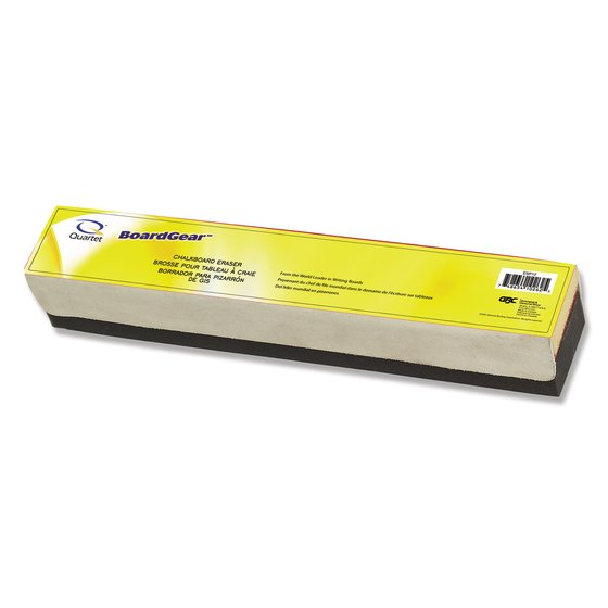 "Quartet® Premium Felt Chalk Eraser, Heavy Use, 12"" x 2"" x 1 1/4"""