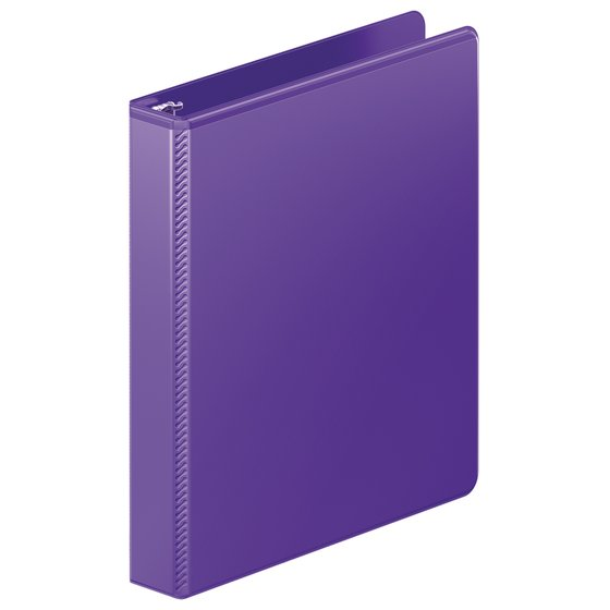 "Mead® Heavy Duty D-Ring View Binder with Extra Durable Hinge, 1"", Purple"
