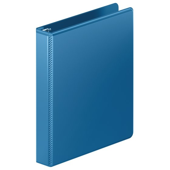 "Mead® Ultra Duty D-Ring View Binder with Extra Durable Hinge, 1"", Light Blue"