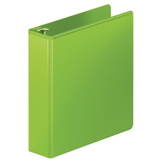 "Mead® Heavy Duty 2"" D-Ring View Binder, Chartreuse"