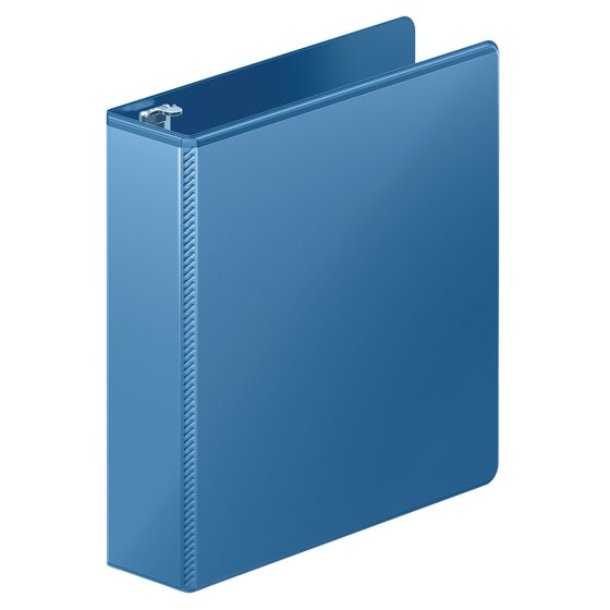 "Mead® Ultra Duty D-Ring View Binder with Extra Durable Hinge, 2"", Light Blue"