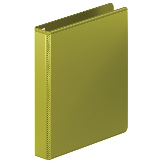 "Mead® Heavy Duty D-Ring View Binder with Extra Durable Hinge, 1"", Olive"