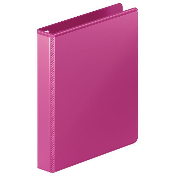 "Mead® Ultra Duty D-Ring View Binder with Extra Durable Hinge, 1"", Pink"