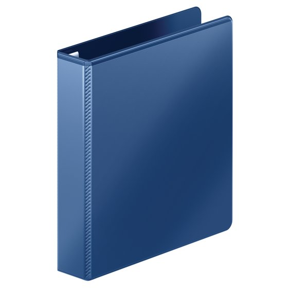 "Mead® Heavy Duty D-Ring View Binder with Extra Durable Hinge, 1 1/2"", Navy"