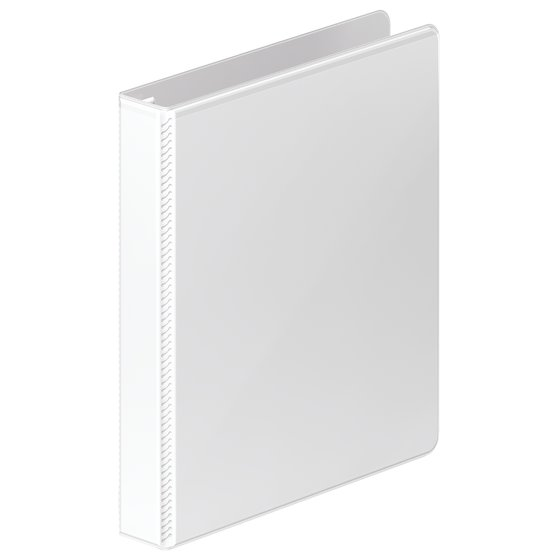 "Mead® Ultra Duty D-Ring View Binder with Extra Durable Hinge, 1"", White"