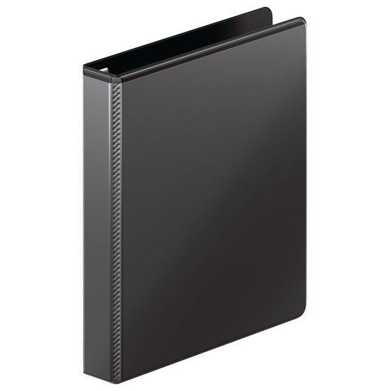 "Mead® Ultra Duty D-Ring View Binder with Extra Durable Hinge, 1"", Black"